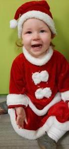 De 1-2 jarigen verkleden zich voor Kerst