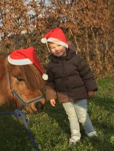 Peuters foto's kerst