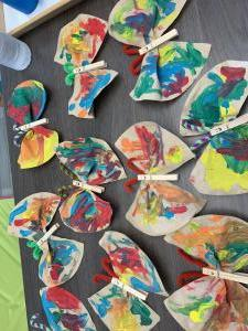 Knutselen vlinders en stempelen ballonnen 2019 (peuters)