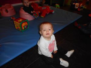 Samen in het ballenbad (baby's)